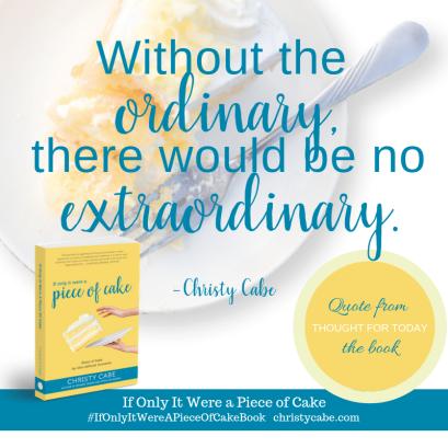 Ordinary Extraordinary